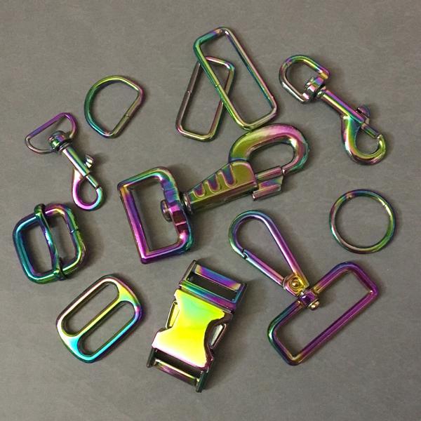 Bolzen Karabinerhaken mit Wirbel 56mm Rainbow Farbe: Neo-Chrome,Regenbogen